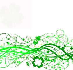 St patty's day swirl green