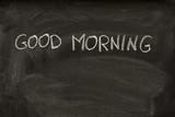 good morning on a school blackboard poster
