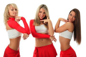 group cheerleader