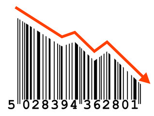 """""""Falling Prices"""" barcode"""