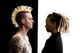 Man with Mohawk and Woman with Dreadlocks poster