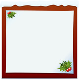 Christmas Board With Holly Decoration. Christmas Series. poster
