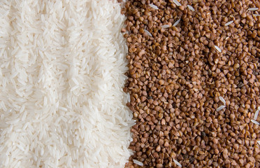 rice and buckwheat