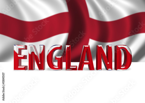 3D Shiny England text