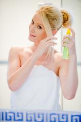 Applying Hairspray