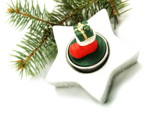 Pine branch, Christmas ornament
