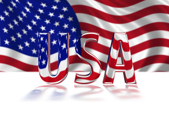 3D Shiny USA text