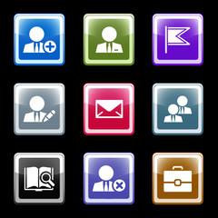 Color screen web icons, set 1