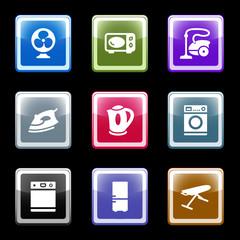 Color screen web icons, set 18