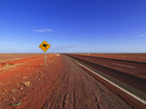 Kangaroo Sign Along The Stuart Highway - Fine Art prints
