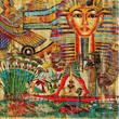Leinwanddruck Bild - vintage egyptian abstraction