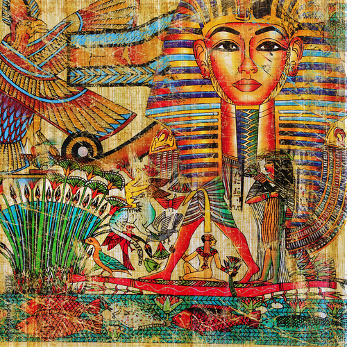 vintage egyptian abstraction