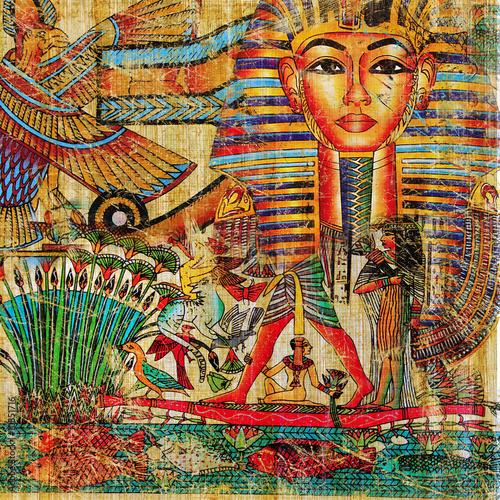 Leinwanddruck Bild vintage egyptian abstraction