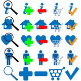FIND BUY OK ADD MORE HOME SHOPPING FAVES Icon Set poster