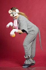 girl in mouse costume