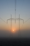 The transmission tower in the mist poster