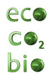 Ecology related 3D text