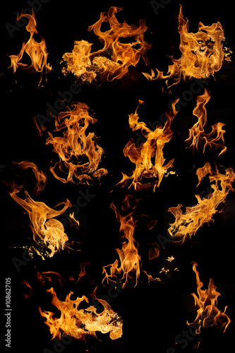 Isolated flames set