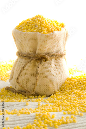 Millet in small sack