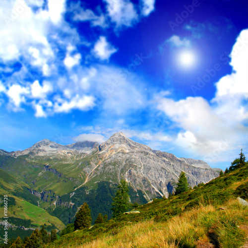 Mountain relaxing landscape