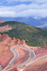 Dramatic Colorado mountain road