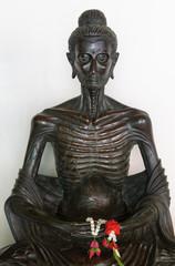 golden buddha in wat benchamabophit, bangkok.