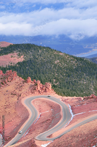 Dramatic Colorado mountain road