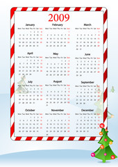 Illustration of European holiday calendar