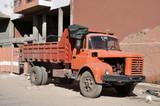 Dump truck in Marrakech, Morocco poster