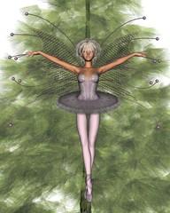 Pink Christmas Tree Fairy - 1
