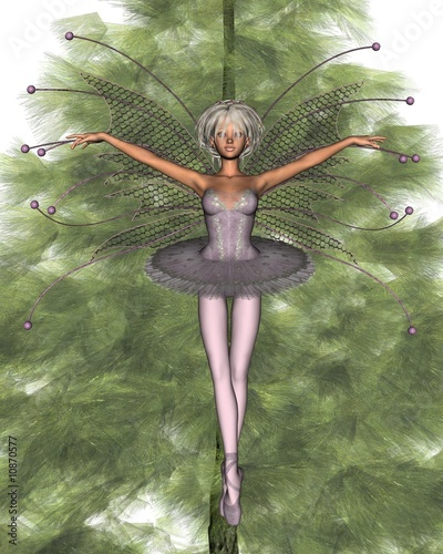 Pink Christmas Tree Fairy - 1