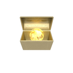 treasure chest isolated on a white