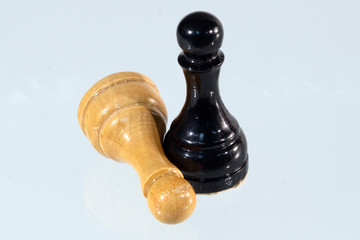 black and white pawns on a blue background 2