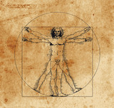 Fototapety vitruvian man