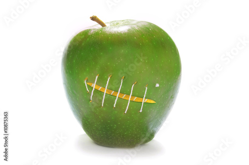 Green Stitched Apple