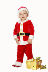 cute standing santa