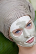 Young Woman face with beauty mask