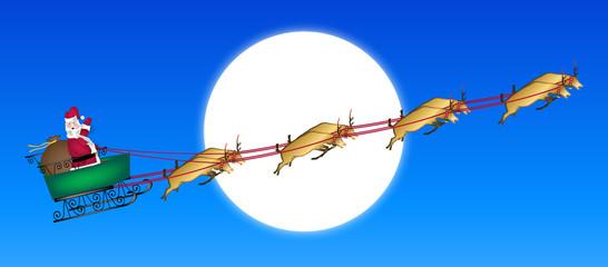 Santa Across Moon
