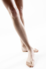 Woman legs, close up (studio)