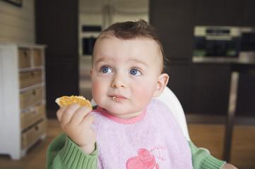 Baby eating, interior