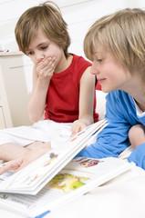 2 children reading