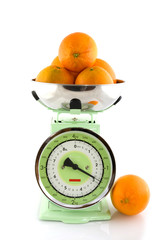 scale for the kitchen with fruit