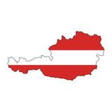 österreichische landkarte poster