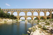 panoramic veiw on Pont du Garde viaduct