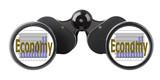 economy concept binoculars poster