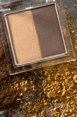 Eye-shadow box, close-up