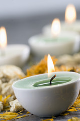 Candles, close-up