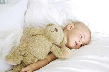 Baby sleeping, indoors