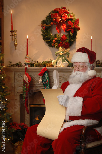 Santa Checking the List