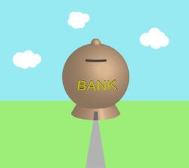 Salvadanaio-banca